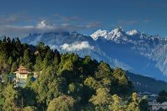 Гималайская горная цепь на Ravangla, Сиккиме Стоковые Изображения RF