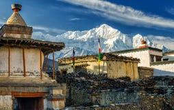 Гималайская деревня Kagbeni Стоковые Фотографии RF