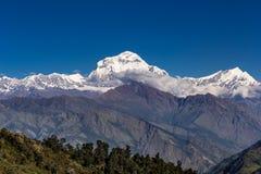 Гималайские горы на восходе солнца Стоковые Изображения