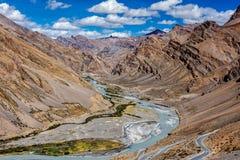 Гималайский ландшафт, Ladakh, Индия стоковые фотографии rf