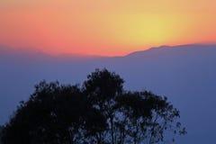 Гималайский заход солнца 2 стоковая фотография