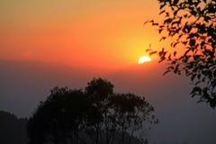 Гималайский заход солнца 3 стоковые фото