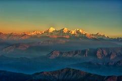 Гималайский Mountain View от Mt. Shivapuri стоковая фотография rf