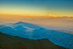 Гималайский Mountain View от Mt. Shivapuri стоковое изображение rf