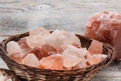 Гималайское розовое соль Стоковое фото RF