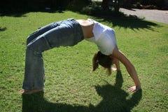 гимнастика девушки Стоковая Фотография