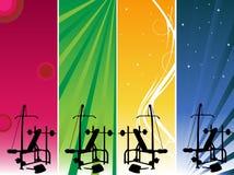 гимнастика знамен Стоковое Изображение
