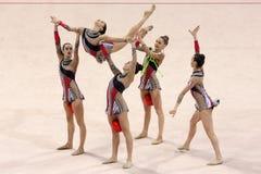 Гимнастика Италии команды звукомерная стоковое фото rf