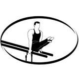 Гимнастика на неровном bars-1 Стоковая Фотография RF