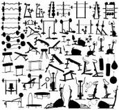 гимнастика оборудования иллюстрация штока