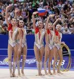 Гимнастика Российской Федерации команды звукомерная стоковые фото