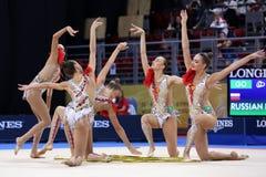 Гимнастика Российской Федерации команды звукомерная стоковая фотография