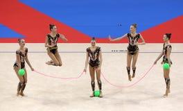 Гимнастика Российской Федерации команды звукомерная стоковое изображение rf