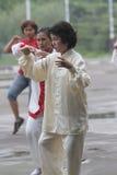 Гимнастика традиционного китайския Стоковое Фото