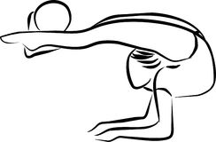 гимнастика шарика звукомерная Стоковое Фото