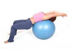 гимнастика шарика Стоковое Изображение