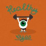 Гимнастика для здоровых глаз Стоковое Фото