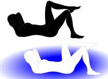 гимнастика 4 иллюстрация вектора
