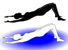 гимнастика 6 иллюстрация вектора