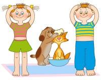 гимнастика s ребенка Стоковые Изображения RF