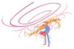 Гимнастический совершитель с принципиальной схемой фантазии бесплатная иллюстрация