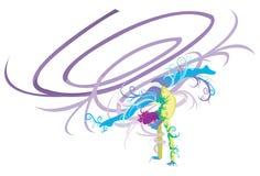 Гимнастический совершитель с принципиальной схемой фантазии иллюстрация вектора