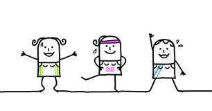 гимнастическо иллюстрация вектора