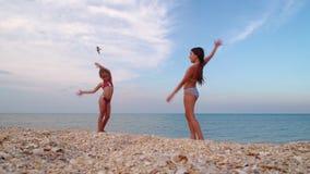 Гимнасты на морском побережье акции видеоматериалы
