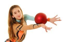 гимнаст девушки стоковое изображение