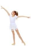 Гимнаст девушки развевая его руки Стоковая Фотография RF