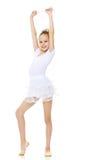 Гимнаст девушки с волшебной палочкой в его руке Стоковое Фото