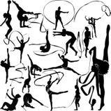 Гимнаст девушки иллюстрация вектора