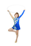 Гимнаст девушки Стоковые Фотографии RF
