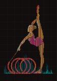 Гимнаст женщины Стоковые Изображения