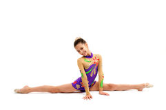 Гимнаст маленькой девочки Стоковые Фото