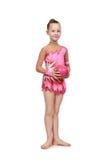 Гимнаст маленькой девочки с шариком Стоковая Фотография RF