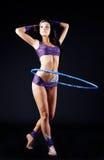 Гимнаст с обручем стоковое фото