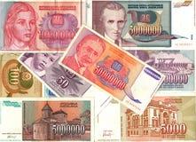 Гиперинфляция кредиток югославского динара Стоковое Изображение RF