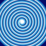 Гипнотическая голубая спиральная абстрактная свирль катушки обмана зрения Круговая предпосылка картины вращая кругов или психодел иллюстрация вектора