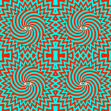 Гипнотическая ретро безшовная картина Стоковое Фото