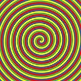 Гипнотические круги цвета Собрание красочных психоделических спиральных предпосылок Абстрактные свирли обмана зрения гипнозом век иллюстрация штока