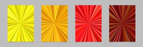 Гипнотический абстрактный шаблон предпосылки рогульки нашивки взрыва луча установил - vector графики канцелярских принадлежностей Стоковые Изображения