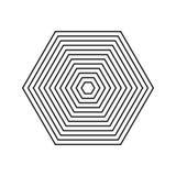 Гипнотическое завораживающее абстрактное изображение также вектор иллюстрации притяжки corel Геометрический обман зрения Элемент  бесплатная иллюстрация