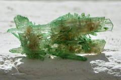 Гипсолит покрашенный зеленым цветом - Кристл Стоковые Изображения RF