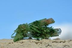 Гипсолит покрашенный зеленым цветом - Кристл Стоковое Изображение RF