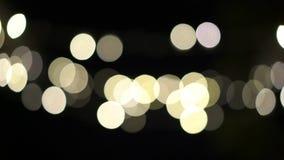 Гирлянда освещает bokeh акции видеоматериалы