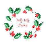 Гирлянда праздника омелы рождества Счастливый Новый Год 2019 рождество падуба весёлое бесплатная иллюстрация