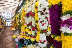 Гирлянды цветка в меньшей Индии в Куалае-Лумпур Стоковая Фотография