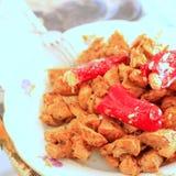 Гироскопы цыпленка с горячим перцем Стоковые Изображения RF