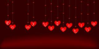 Гирлянда вектора на день валентинки Стоковая Фотография